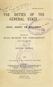 Cover of: The duties of the General staff