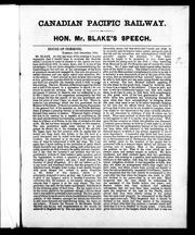 Cover of: Canadian Pacific Railway