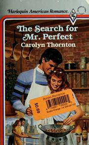Cover of: The search for Mr. Perfect