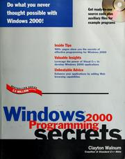 Cover of: Windows 2000 programming secrets