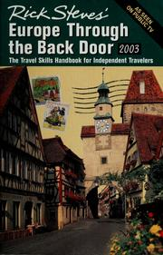 Cover of: Rick Steves' Europe through the back door 2003.