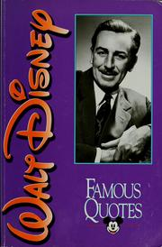 Cover of: Walt Disney: famous quotes
