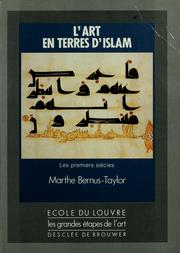 Cover of: L' art en terres d'islam