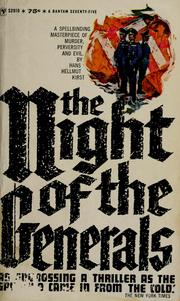 Cover of: The night of the generals