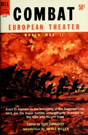 Cover of: Combat: European theater, World War II