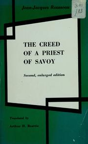Cover of: The creed of a priest of Savoy