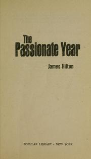 Cover of: The passionate year.