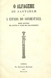Cover of: O alfageme de Santarem