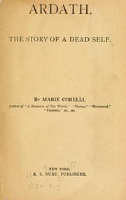 Cover of: Ardath, the story of a dead self