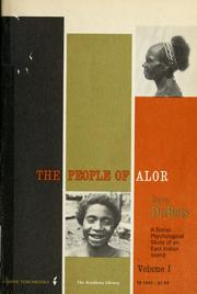 Cover of: The people of Alor