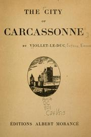 Cover of: The city of Carcassonne