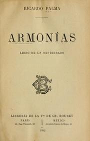 Cover of: Armonías.