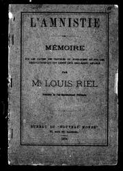 Cover of: L' amnistie