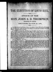 Cover of: The execution of Louis Riel