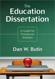 Cover of: The education dissertation