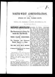 Cover of: Northwest administration