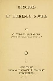 Cover of: Synopses of Dickens's novels
