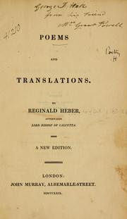 Cover of: Poems and translations