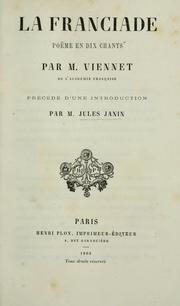 Cover of: La Franciade