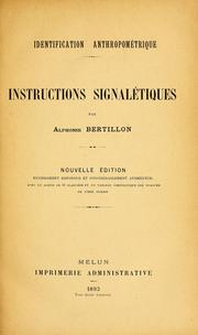 Cover of: Identification anthropométrique