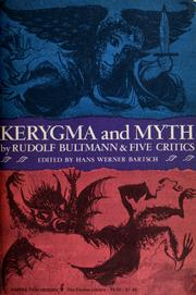 Cover of: Kerygma and myth