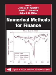 Cover of: Numerical methods for finance
