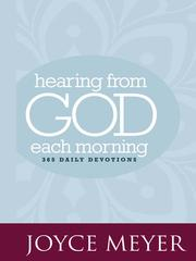 Cover of: Hearing from God each morning