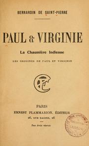 Cover of: Paul & Virginie