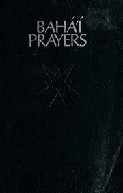 Cover of: Baháí prayers