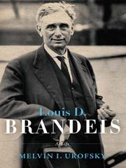 Cover of: Louis D. Brandeis