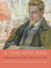 Cover of: A year with Rilke: daily readings from the best of Rainer Maria Rilke