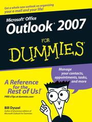 Cover of: Outlook 2007 for dummies
