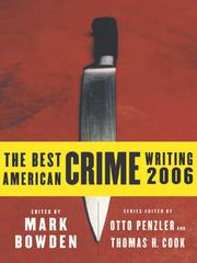 Cover of: The Best American Crime Writing 2006 (Best American Crime Writing)