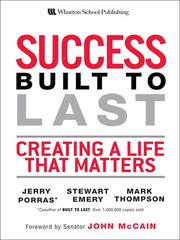 Cover of: Success built to last