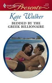 Cover of: Bedded by the Greek Billionaire