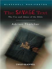 Cover of: The savage text