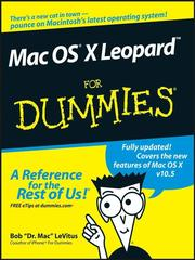 Cover of: Mac OS X Leopard for dummies