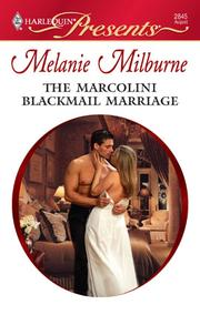 Cover of: The Marcolini blackmail marriage