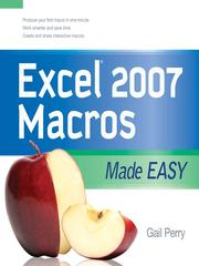 Cover of: Excel 2007 macros made easy