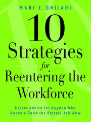 Cover of: 10 strategies for reentering the workforce