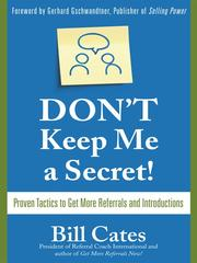 Cover of: Don't keep me a secret