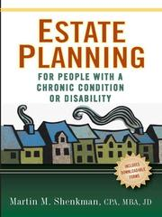 Cover of: Estate planning: for people with a chronic condition or disability