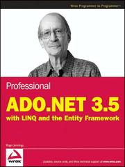 Cover of: Professional ADO.NET 3.5 with Linq and the Entity Framework