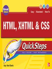 Cover of: HTML, XHTML & CSS quicksteps