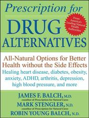 Cover of: Prescription for drug alternatives