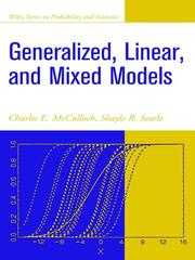 Cover of: Generalized, linear, and mixed models