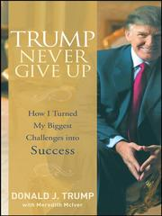 Cover of: Trump never give up