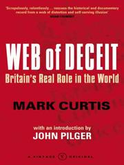 Cover of: WEB OF DECEIT: BRITAIN'S REAL ROLE IN THE WORLD