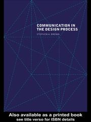 Cover of: COMMUNICATION IN THE DESIGN PROCESS