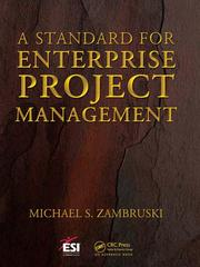 Cover of: A standard for enterprise project management